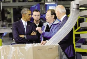 Obama & Biden during the TechmarPM plant tour in 2015